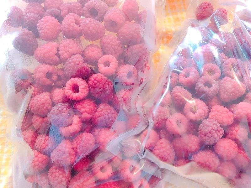 東北じもの市場から届いた冷凍ラズベリーの写真