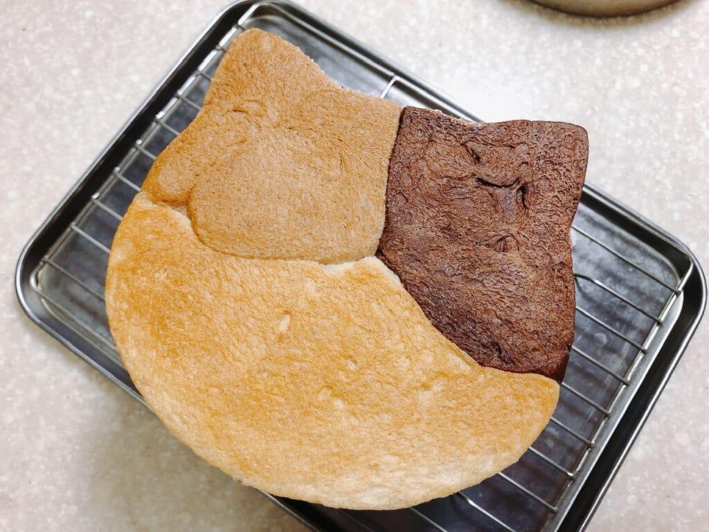 三毛猫パン完成写真
